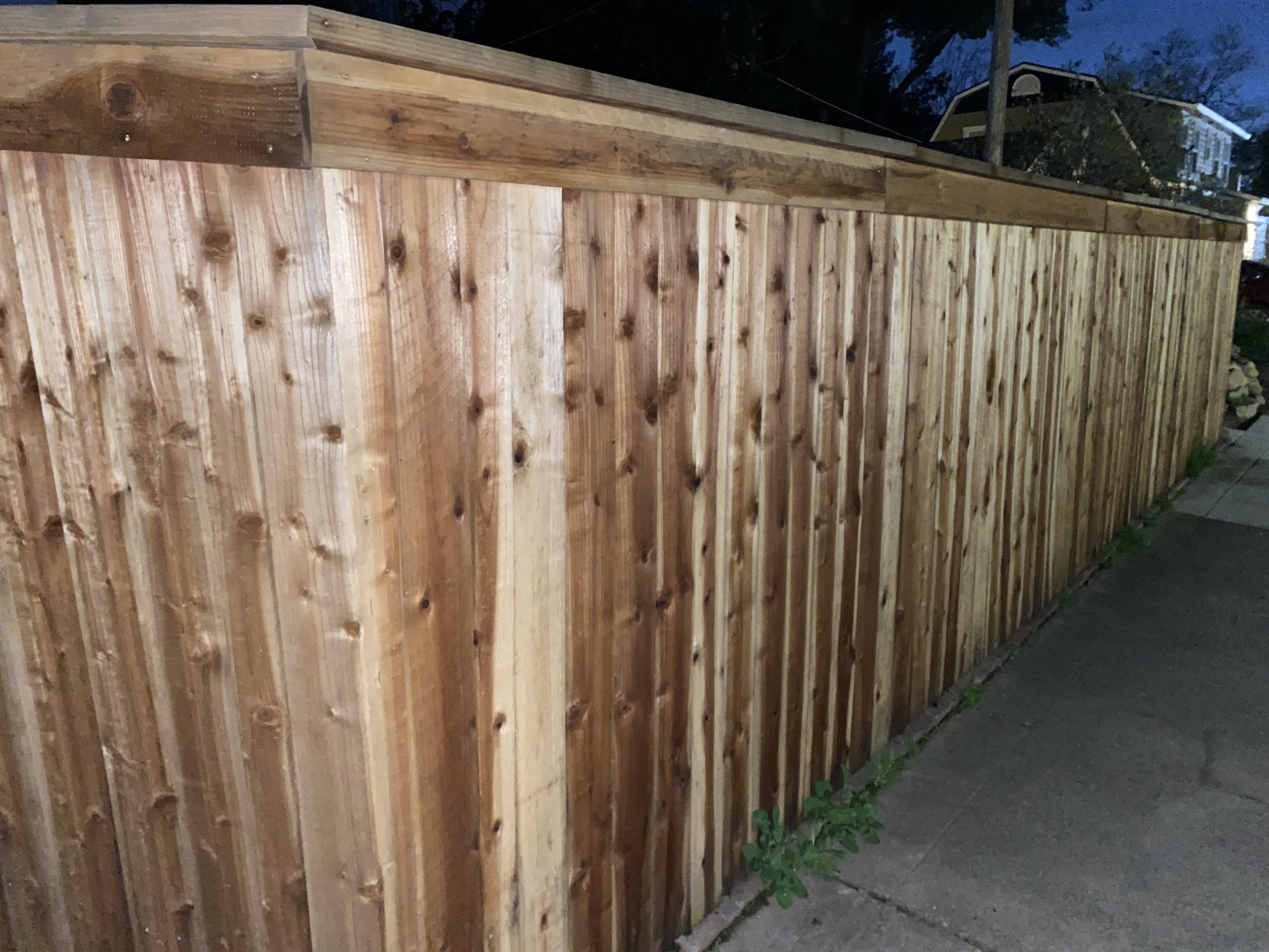 this picture shows deck fence