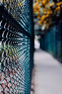 This picture shows fence in San Carlos, CA.