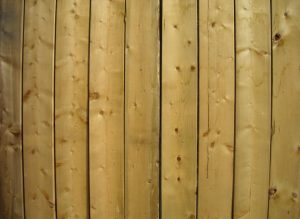 this is an image of cedar fence in San Diego, California