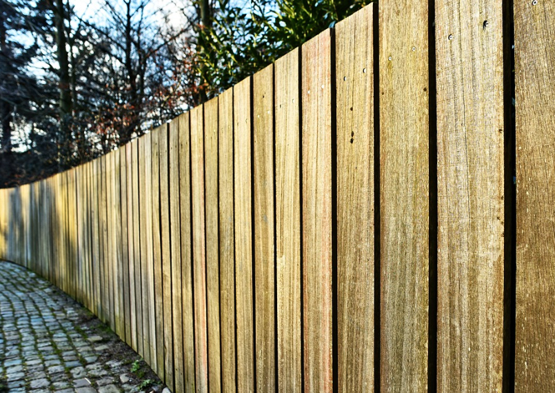 this image shows pine fencing in San Diego, California