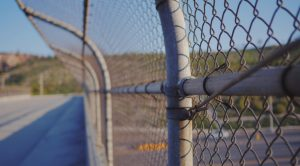 this image shows snake fence in San Diego, California
